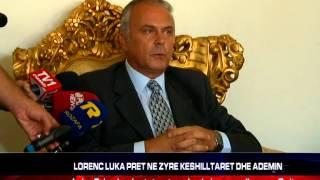 Lorenc Luka pret ne zyre keshilltaret dhe Voltana Ademin