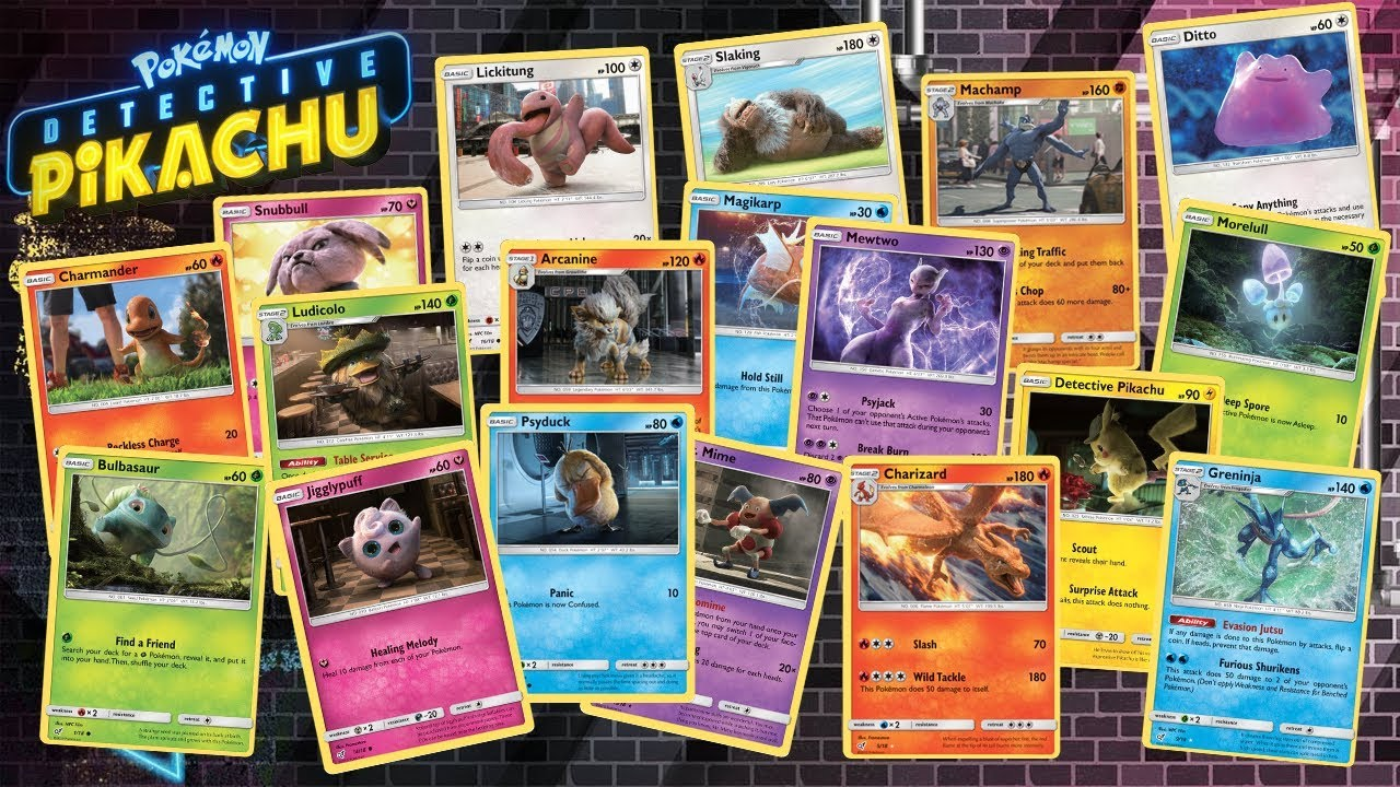 Detective Pikachu Trading Cards Youtube