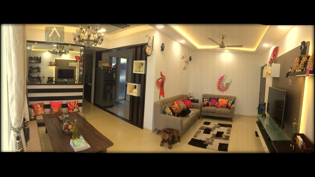 2 bhk flat interior design for mr nilesh awate excel for 1 bhk living room interior