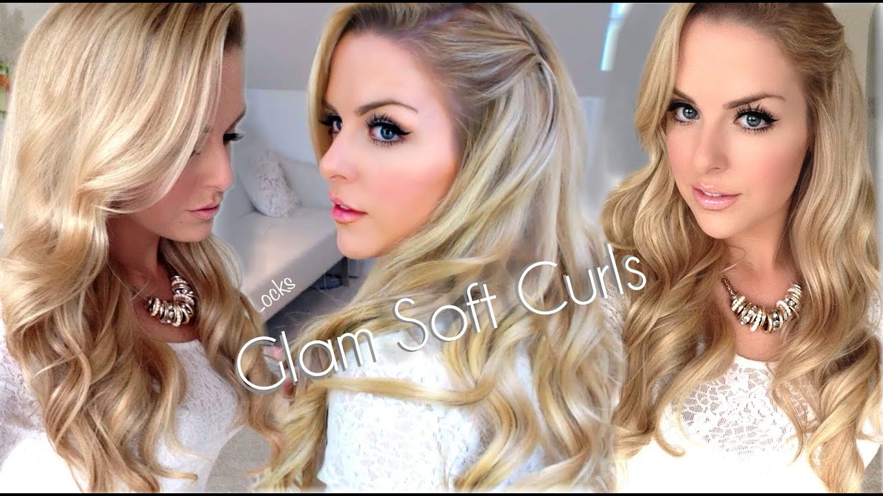 Glamorous Party Hair Soft Curls Tutorial Youtube