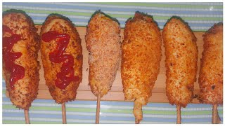 How to make delicious corn dog…