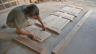 Awesome Traditional Main Entrance Door For House | Hand Cutting Woodworking Joints Carpenter at Work