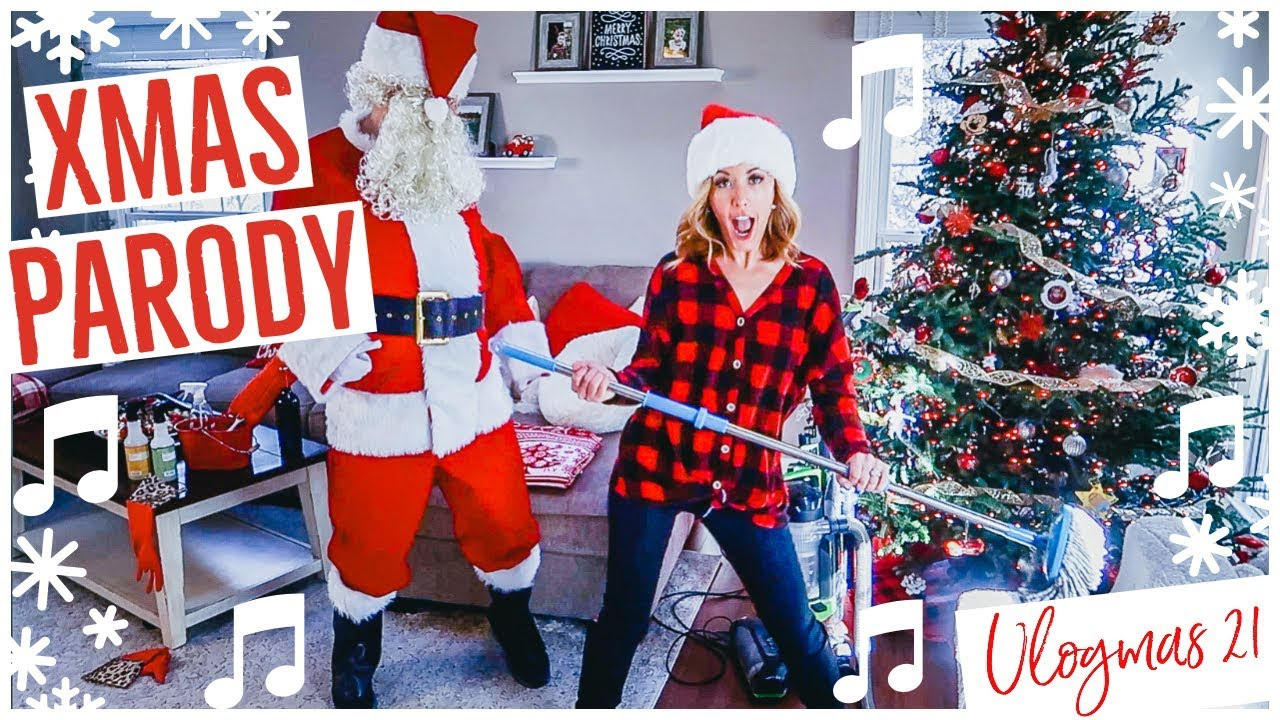 Christmas Parody.Epic Christmas Parody Mom Cleaning Singing Funny Clean With Me Brianna K