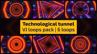 VJ Loops - Technological Tunnel