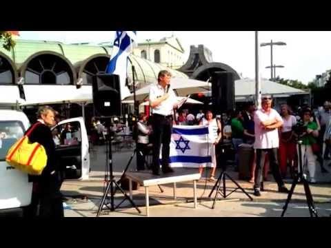 Pro Israel Veranstaltung auf dem Kröpcke in Hannover 2014