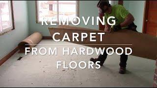 Removing Carpet & Linoleum Glue From Hardwood Floors - 1950's Rental Property Renovation Part 2
