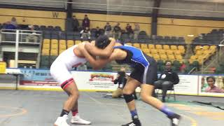 Montclair's Jaala Williams wrestles in the Essex County Tournament