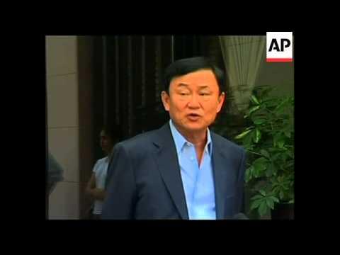 4:3 Thaksin Shinawatra presser after sister wins election