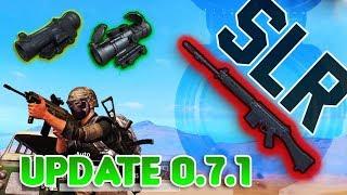 UPDATE 0.7.1 NEW GUN SLR, 3X & 6X SCOPE + NEW ATTACHMENTS | PUBG MOBILE