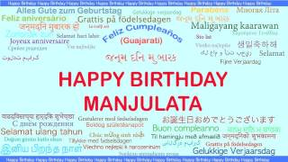 Manjulata   Languages Idiomas - Happy Birthday