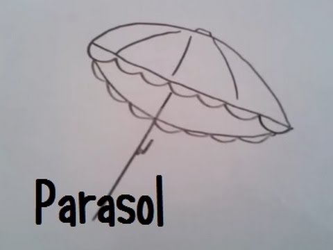 Dessin Parasol dessiner un parasol - youtube