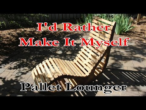 A Unique Wood Lounge Chair Made from Pallets