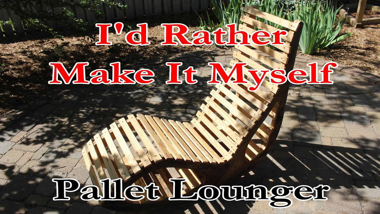 A Unique Wood Lounge Chair Made from