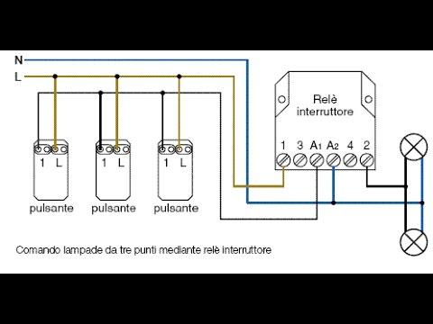 L Impianto Elettrico Civile Pulsante E Rele Youtube