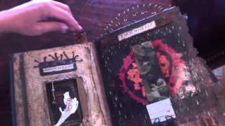 assemblage altered book art in progress