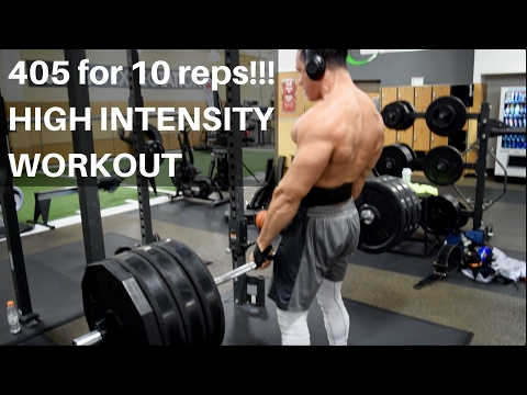 KD FITNESS: 405lbs FOR 10 REPS!! | BACK AT NIGHT | High Intensity TRAINING...