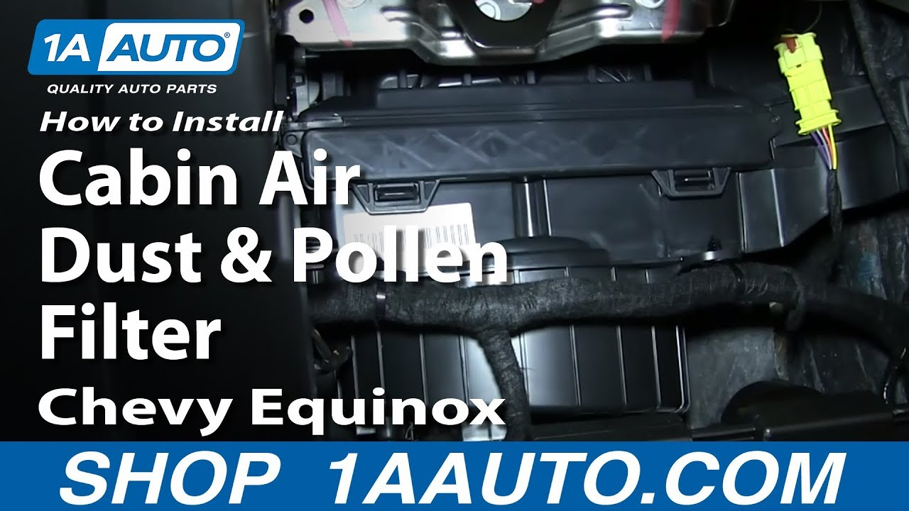 How To Install Replace Change Cabin Air Dust And Pollen Filter Chevy 2011 Traverse Belt Diagram Equinox Gmc Terrain Youtube