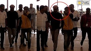 Rajinikanth Fan Trying For Selfie at HYD airport | Telugu Airport Videos