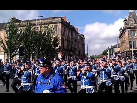 Glasgow Orange Walk 2013 Govan District Lodges Youtube