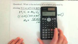 14. Concentration of a Solution: Dilution Concentration (2)