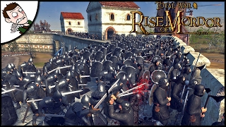 Gondor Has Descended Into CIVIL WAR! Total War Rise of Mordor Siege Gameplay (Attila Mod)