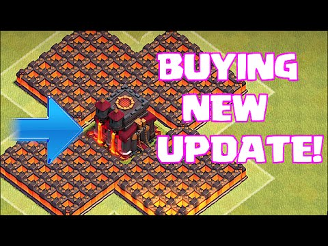 Clash Of Clans - BUYING NEW UPDATE!! & DESTROYING CC W/ MAX  LVL 7 LIGHTNING SPELLS