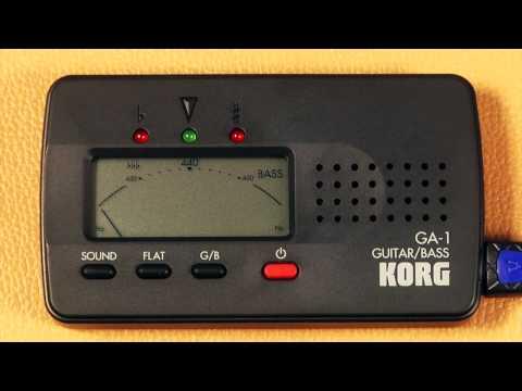 Korg GA-1 Guitar & Bass Tuner Guided Tour