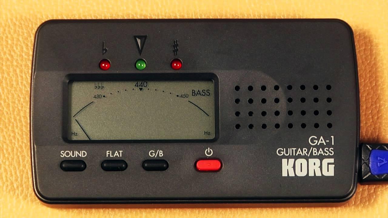 ga 1 guitar bass korg tuner instructions