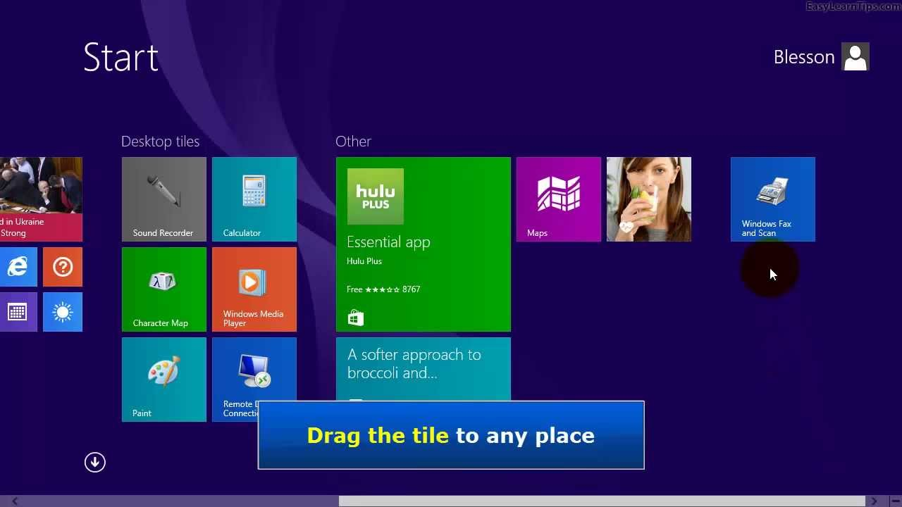 Windows 8 1 - How to add Windows Fax and Scan Tile to Start Screen