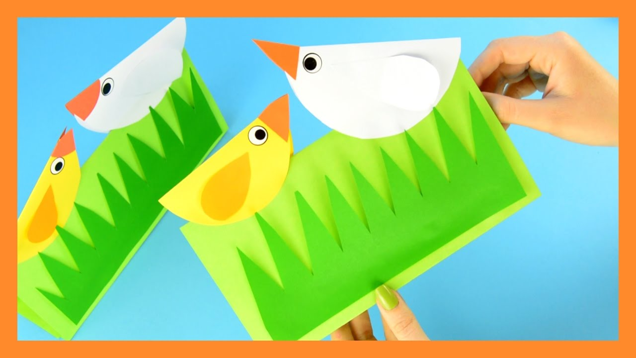 Spring Chick Craft For Kids Simple Paper Craft For Kids Youtube