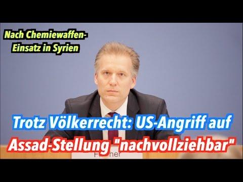 US-Angriff auf Assad-Regime: Bundesregierung vermeidet völkerrechtliche Bewertung