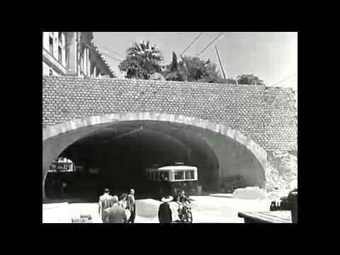 Travaux de Construction du Tunnel Des Facultés d'Alger en 1950