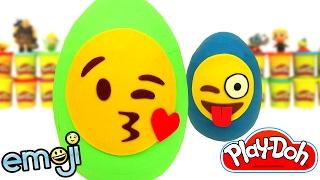 Huevos Sorpresas de Emoji en Español de Plastilina Play Doh