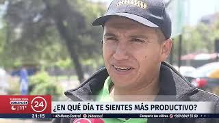 Estudio revela que los chilenos somos más productivos los miércoles