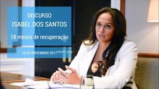 Sonangol: 18 meses de recuperação | Discurso de Isabel dos Santos