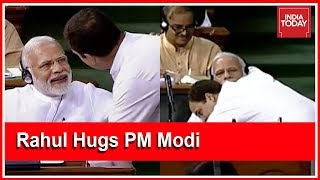 You Can Call Me Pappu, I Have No Anger: Rahul Gandhi Hugs PM Modi After Lok Sabha Speech