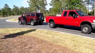 Ford f350 .vs. Hummer!