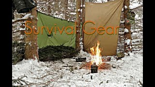 Minimal Gear for a Winter Survival Overnight-Load-Out and Survival Exercise Plans