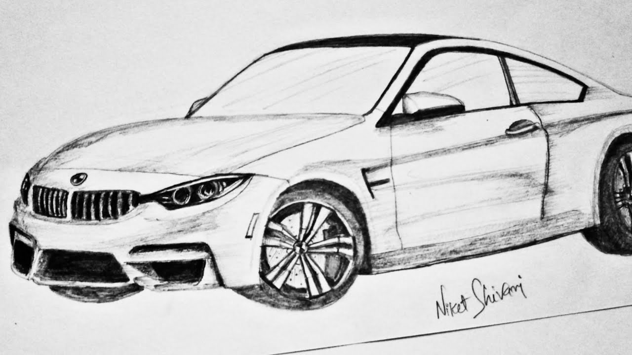 How To Draw Bmw M4 Graphite Pencil Drawings Easy Drawing Pencil Shading Drawings Niket 99