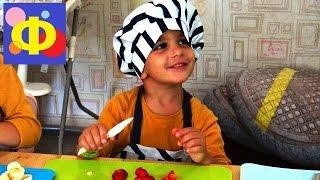 Кулинарный мастер класс.Дети готовят блинные рулетики.(Кулинарный мастер-класс для детей. Дети учатся делать блинные рулетики на детском канале Финт ушами., 2016-08-16T07:25:36.000Z)