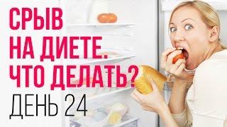День № 24. Срывы на диете. Как избежать и что делать, если срыв диеты произошёл