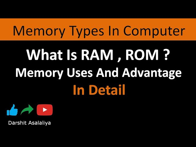 memory  types in computer architecture || read-write memory VS read only memory in (hindi)