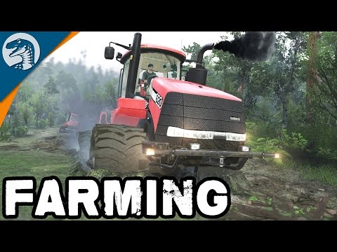 GIANT TRACTOR CONVOY TO NEW FARM | Spin Tires Multiplayer Gameplay