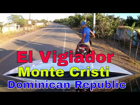 Driving downtown -El Vigiador km 17 - Monte cristi - Dominican Republic