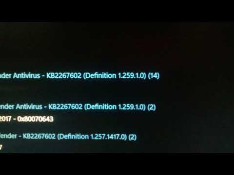 Windows Insider definition update problem