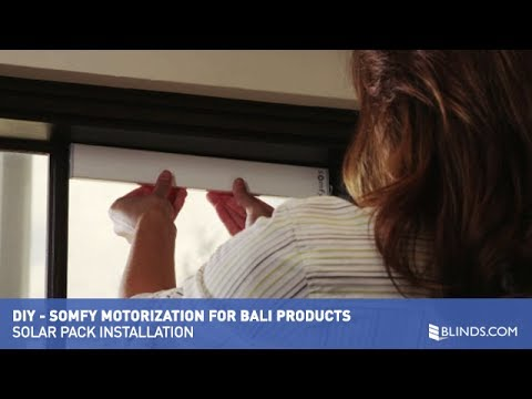 Somfy Motorization - Solar Pack Installation
