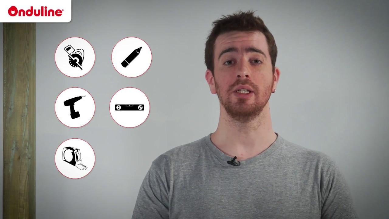 comment poser une plaque en polycarbonate onduline pc