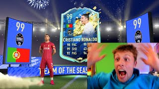 I GOT 99 TOTS RONALDO IN A PACK!! - FIFA 20
