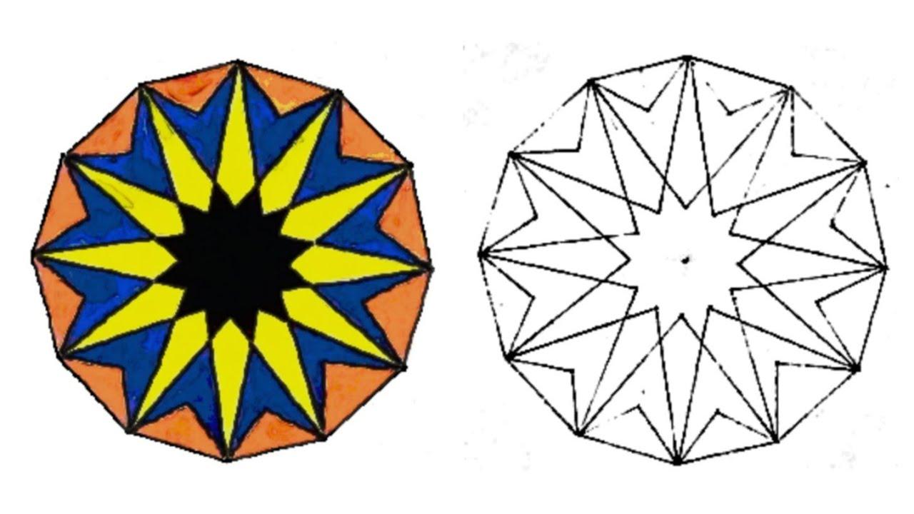 رسم وحدة زخرفية لا نهائية سهلة زخارف اسلامية هندسية سهلة زخرفة سهلة جدا Islamic Geometric Youtube