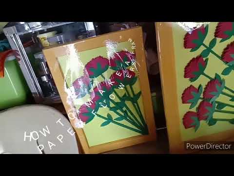 How to make a frame paper flower